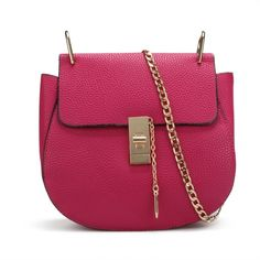 Buy fashion women elegant saddle shape solid chain strap hasp small handbag shoulder bags from newdress,enjoy discount shopping and fast delivery now. Chain Shoulder Bag, Shoulder Bags, Fashion Bags, Womens Fashion, Small Handbags, Black Kids, Backpack Purse, Passion For Fashion, Purses And Bags
