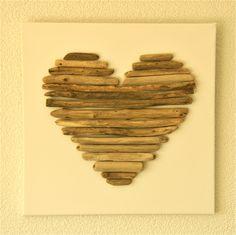 framed driftwood art...