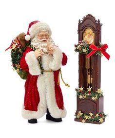 North Pole Christmas Shop is presenting the item - Fabriché Santa with Clock by Kurt Adler. A wide range of decorations, santa, nutcrackers from Kurt S. Adler NYC are available in our shop in UK. Nutcracker Christmas, Christmas Store, Christmas Stockings, Father Christmas, Christmas Eve, Vintage Christmas, Filter, Seasonal Decor, Holiday Decor
