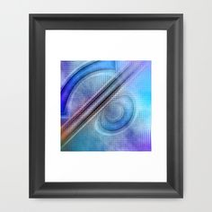 Buy Abstract pattern blue and purple by Christine baessler as a high quality Framed Art Print. Worldwide shipping available at Society6.com. Just one of millions of products available.
