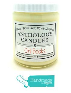 Old Books Candle - Old Books Scent, Paper Scented Candle, Gift for Book Lover, Book Candle, Gift for Reader from Anthology Candles http://www.amazon.com/dp/B017X1ZFQ2/ref=hnd_sw_r_pi_dp_mFyDwb0RTEAP7 #handmadeatamazon