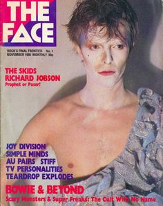 David Bowie, 'Ashes to Ashes', The Face Magazine Cover.
