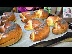 Budete ich piecť každý deň! Domáce Makovky (Sladké rožky, Lupáky), chutnejšie ako z obchodu! - YouTube Bagel, Food And Drink, Bread, Youtube, Basket, Cooking, Brot, Baking, Breads