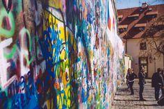 Le Mur de John Lennon John Lennon, Painting, Visit Prague, Wall, Color, Travel, Painting Art, Paintings, Painted Canvas