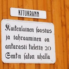 My favorite street sign @ Old Rauma