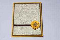 Sunflower Birthday Card. $3.50, via Etsy.