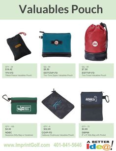 Custom Golf Outing Valuables Pouches on Sale! Personalized Golf Products at bargain prices. Golf Tournament Giveaway Prizes & Logo branded Gifts. www.imprintgolf.com 401-841-5646 #golftournament #golfoutings #golfgifts #golfonsale #golfspecials #newfor2017 #golf #golfprizes #planningagolftournament #golfvaluables #valuablespouch