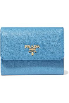 Powder-blue textured-leather Snap-fastening front flap Designer color: Marine Made in Italy