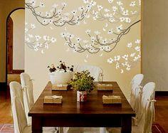 STENCIL for Walls  Flowering DOGWOOD Branch  by OliveLeafStencils
