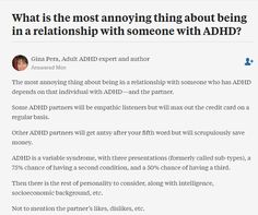 Dating someone with adhd and autism
