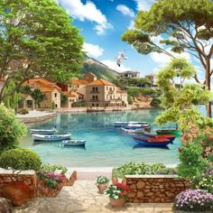 Peaceful Places, Beautiful Places, Beautiful Pictures, Great Backgrounds, Photo Backgrounds, Beautiful Paintings, Beautiful Landscapes, Diy Painting, Painting & Drawing