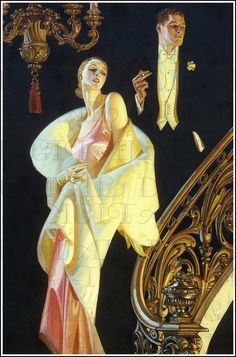 How queer artist J. Leyendecker invented an iconography of twentieth-century American masculinity. Art And Illustration, Illustrations, Kunst Inspo, Art Inspo, Vintage Prints, Vintage Art, Vintage Dolls, Jc Leyendecker, Up Girl