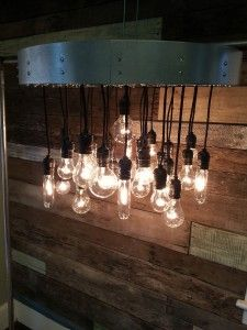31 bulb Custom Light Fixture side view