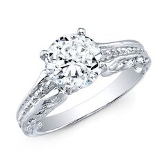 Shop our beautiful Hand-Engraved Round Solitaire Ring with beyond conflict free diamonds, 30 Day Return, Flexible Payment Options. Round Solitaire Rings, Round Solitaire Engagement Ring, Round Cut Diamond, Round Diamonds, Hand Engraving, Angel Wings, Ring Designs, Choices, Jewelery