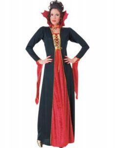 Fluwelen Gothic vampieren jurk