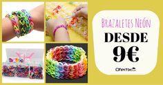 ¡Las pulseras de #moda! Diviértete creando diseños con los más peques con este completo set http://bit.ly/BrazaletesNeón180314Ofx