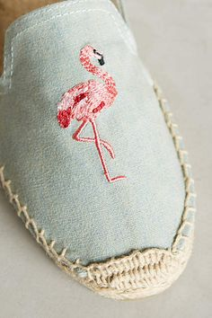 Flamingos e Alpargatas! ❤️   Soludos Picnic Espadrilles - anthropologie.com #anthroregistry #anthropologie