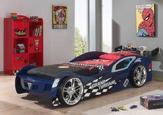 NEU! Kinderbett GRAND TURISMO Autobett Rennautobett mit Lattenrost 90 x 200 blau