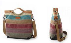 Groupon Goods Global GmbH: Kono Tragetasche mit Regenbogen-Muster für Damen in der Ausführung nach Wahl