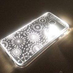 dc5b7ec67 SOJITEK Samsung Galaxy S7 Edge Gold Twinkling Light Clear Case w  Star  Pattern (Patent