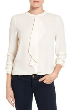Vince Camuto Vince Camuto Ruffle Front Blouse available at #Nordstrom