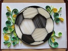 Beautiful quilled Soccerball - by a Russian Artist, whose name is on the photo.