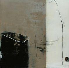 """Françoise Danel,   """"Paysage Imaginaire"""", huile sur toile"""