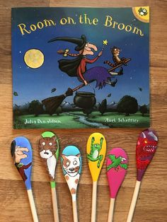 Story spoons inspired by the classic children's book Room on the Broom. The post Story spoons inspired by the classic childrens book Room on the Broom. appeared first on Children's Room. Story Sack, Room On The Broom, Witch Decor, Book Corners, Doll Quilt, Spirit Halloween, Book Activities, Childrens Books, Book Art