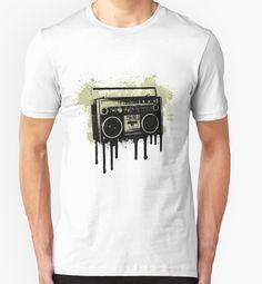 Portable Stereo Splatter - Music - Artistic - Ink Splatter - Grunge - Abstract - #Tshirt