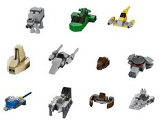 LEGO Star Wars Mini Vehicle Ship Lot from 2012 Advent Calendar 9509