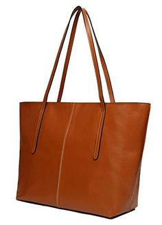 Obosoyo Women's Handbag Genuine Leather Tote Shoulder Bags Soft Hot Brown - http://leather-handbags-shop.com/obosoyo-womens-handbag-genuine-leather-tote-shoulder-bags-soft-hot-brown/