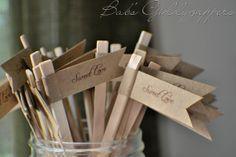 Sweet Love Kraft Paper Stir Sticks. $0.75, via Etsy.