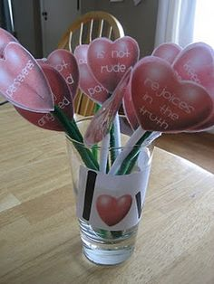Love bouquet: use with Scripture for Valentine's Day