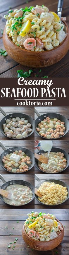 This Creamy Seafood Pasta is so easy to make and it makes a comforting and filling dinner. You can have it ready in just 30 minutes! ❤ http://COOKTORIA.COM