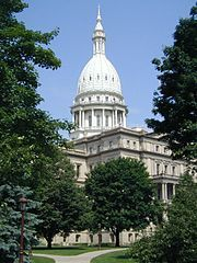 Michigan, USA -  State Capitol in Lansing  O man I'll be serving there in 4.6 months:)
