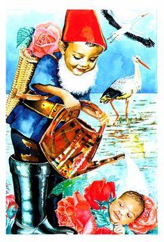 """Ischtwan Takatsch: """"Michaels Geburtskarte 2002"""", Wasserfarben"""
