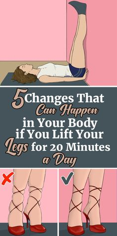 Health Inspiration 5 Changes That Can Happen in Your Body if You Lift Your Legs For 20 Minutes А Day Health And Fitness Tips, Health And Wellness, Fitness Hacks, Health Care, Legs Up The Wall, Unhealthy Diet, Stress, Lose Weight, Weight Loss