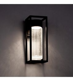 Twilight indooroutdoor led wall sconce exterior light fixtures modern forms structure led outdoor wall light in black ws w5416 bk aloadofball Choice Image