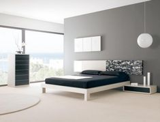 uNmsia Black And White Ikea Bedroom Furniture Victorian Table Lamp Brown Gray Bedroom Walls, Bedroom Wall Colors, Bedroom Black, Simple Bedroom Design, Bedroom Design Inspiration, Design Ideas, Minimalist House Design, Minimalist Home, Contemporary Bedroom