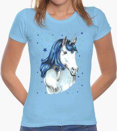 Camiseta Unicornio azul