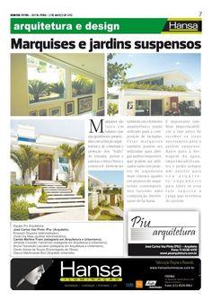 27° Publicação Jornal bom dia – Matéria - Marquises e jardins suspensos  02-03-12