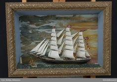 DigitaltMuseum - Skipsmodell Painting, Art, Model, Painting Art, Paintings, Kunst, Paint, Draw, Art Education