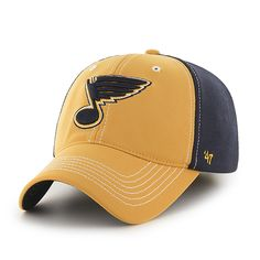St Louis Blues Reversal Team Color Closer Gold 47 Brand Stretch Fit Hat