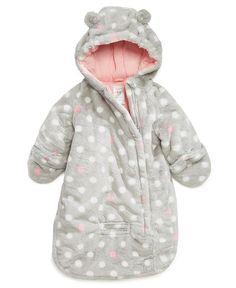 Carter's Baby Outerwear, Baby Girls Dot-Print Pram Bag - Kids Jackets & Coats - Macy's