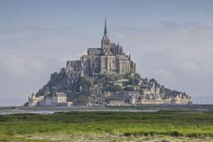 The monastery mount of Mont St. Michel, Normandy, France