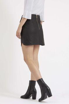 Photo 4 of TALL Leather-Look Pelmet Skirt