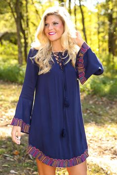 Go With All Your Heart Dress-Navy - All Dresses