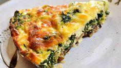 24 Recipes Per Day | Crustless Spinach, Onion and Feta Quiche