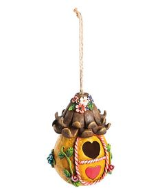 Another great find on #zulily! Orange Whimsy Woods Fairy House Ornament #zulilyfinds