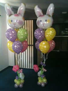 Easter Bunny Balloons by missymooballoons.co.uk